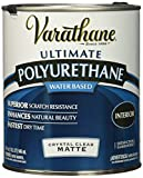#1: Rust-Oleum 26274 Varathane Soft Touch Crystal Clear Polyurethane Wood Varnish/Finish (Water-based | Matte Clear | 946 ML)