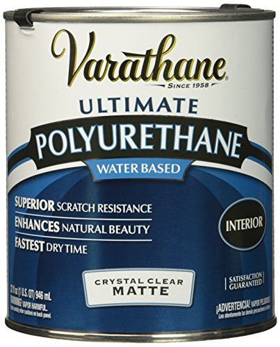 Rust-Oleum 26274 Varathane Soft Touch Crystal Clear Polyurethane Wood Varnish/Finish (Water-based | Matte Clear | 946 ML)