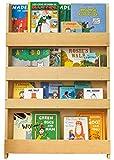 Tidy Books ® - Regal Kinderzimmer | Natur | Bücherregal für Kinder | Montessori Material | Holzregal | 115 x 77 x 7 cm | Nachhaltig und Umweltfreundlich | Handgefertigt | Das Original seit 2004