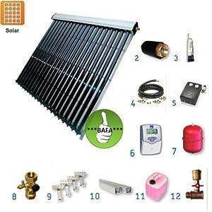 Solarpaket TWL EtaSunPro HLK30-4 Vakuumröhrenkollektorset 18,72m²