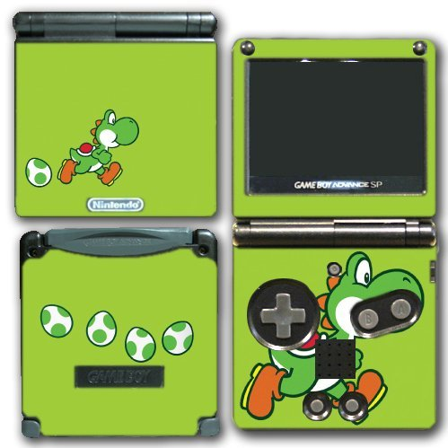 Ds Yoshis Island New (Yoshi Special Egg Green Edition Super Mario Bros New Island DS Woolly World Video Game Vinyl Decal Skin Sticker Cover for Nintendo GBA SP Gameboy Advance System by Vinyl Skin Designs)