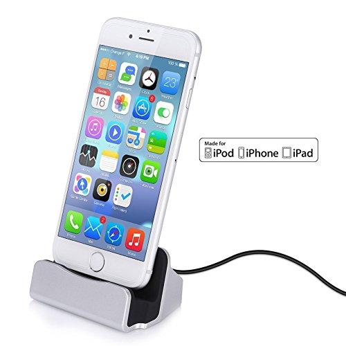 GHB-Dock-para-iPhone-Cargador-Dock-para-Apple-MFi-Certificado-por-Apple-con-Cable-de-Conector-Lightning-Compatible-con-iPhone-7-7-Plus-6-6s-Plus-5s-5c-iPad-mini-Plata
