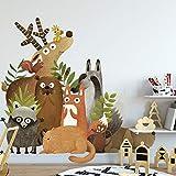 WWDDVH Animaux De La Forêt De Bricolage Enfants Chambre Décoration Autocollant...