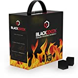 BLACKCOCO's Charbon naturel Premium à base de noix de coco pour narguilé & barbecue Charbon pour chicha Confection de 4 kg