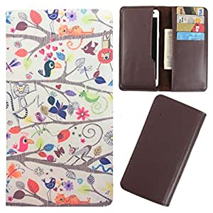 DooDa - For iBall Andi 3.5V Genius2 PU Leather Designer Fashionable Fancy Case Cover Pouch With Card & Cash Slots & Smooth Inner Velvet