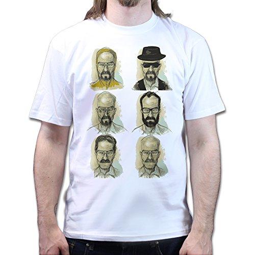 Heisenberg Faces Breaking Meth Bad T-shirt Weiß