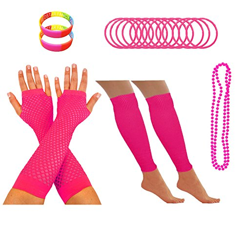 80s Party Outfit Accessory Set for Women