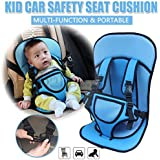 Panzl Babies & Toddlers's Adjustable Baby Car Cushion Seat with Safety Belt Multi-Function (Color May Vary)
