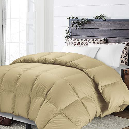 NTBAY All Season Khaki Down Alternative Tröster Bettdecke einfügen, flauschig, warm, und weich, Mikrofaser, khaki, Twin -