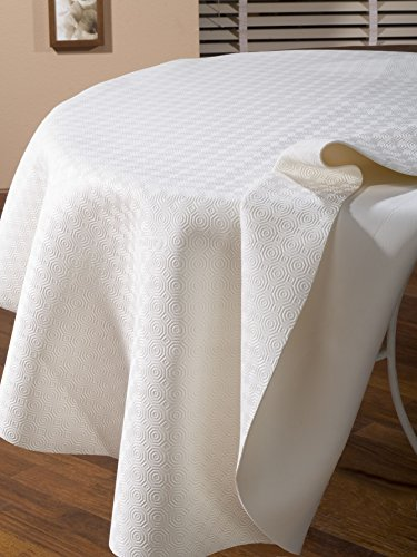 CALIGOMME PROTECTION DE TABLE BLANC OVALE 135x190 cm