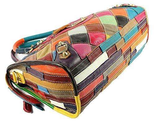 S-Kiven, Borsa a mano donna Multicolore Mode 4 Multicolore (Mode 4)