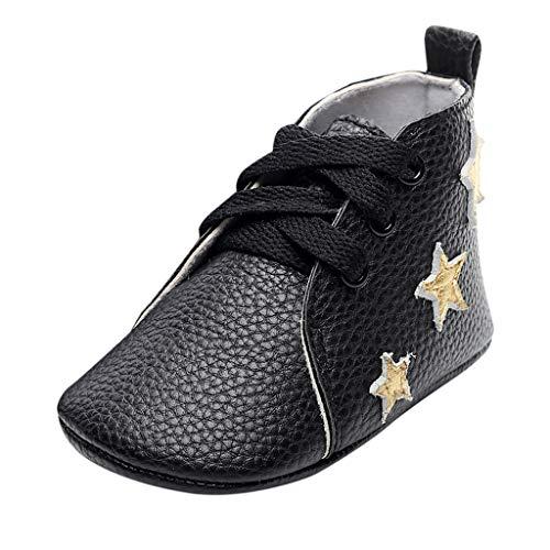 Alwayswin Baby Mädchen Jungen Leder Kurze Stiefel Lauflernschuhe Weiche Schuhe Erste Wanderer Schuhe Booties Neugeborene Weich Lederschuhe Schnürstiefel Mode Weicher Boden Babyschuhe