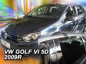 Heko Z928756 Windabweiser Regenabweiser Für Golf 6 08 Hatchback 5türer Für Vorne Und Hinten Auto