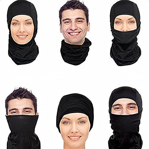 Balaclava Face Mask Ski Sport Protection Mask Motorcycle Helmets Liner Multiple Wearing Black