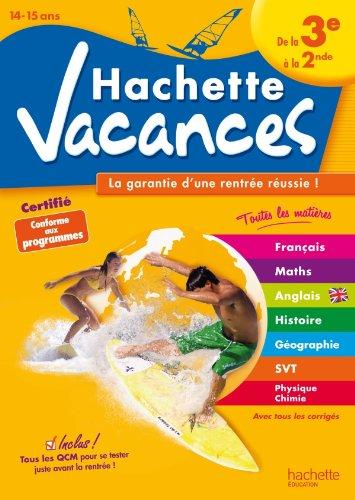 Hachette Vacances - De la 3ème à la 2de par Annie Sussel, Gérard Caparros, Brigitte Réauté