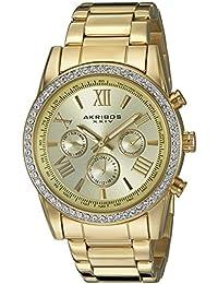 Akribos XXIV AK868YG - Reloj de cuarzo para hombres, color oro