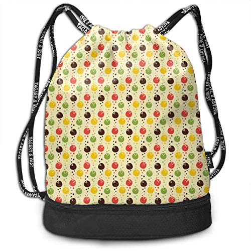 Alice_Home_Collect Bowling Balls Party Drawstring Backpack Sports Athletic Gym Cinch Sack String Storage Bags for Hiking Travel Beach (Womens Bowling Ball)