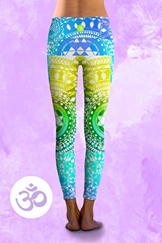 Om Shanti Eco Friendly Power Pants Aqua Chakra