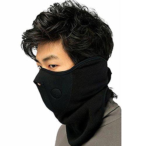 West See Winter Warme Maske Fahrrad Motorrad Ski Snowboard Gesichtsschutz Masken Gesichtsmaske Face Mask (Schwarz)