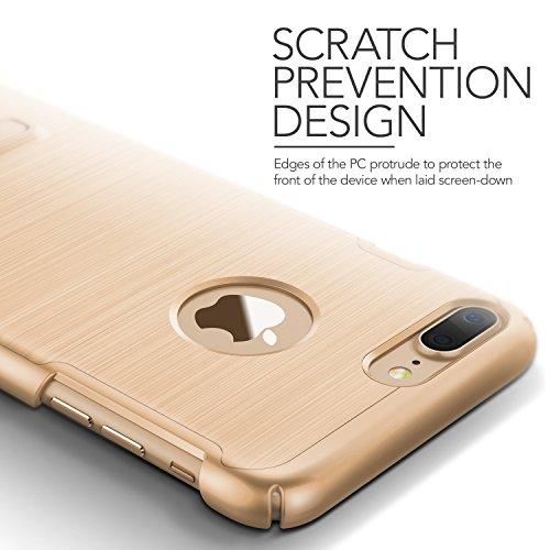 iPhone 7 Plus Hülle, VRS Design [Simpli Lite Serie] Minimalistisch Schlanke und Schwerlast Schutz mit Klappständer für Apple iPhone 7 Plus 2016 - Rose Gold Gold