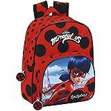 Safta 611702609 Ladybug Mochila escolar, 34 cm, Rojo