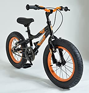 "16"" BIGFOOT Boys KIDS BIKE - Childrens SILVERFOX Bicycle in BLACK (Fat Tyres)"