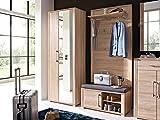 moebel-eins GRANDE Garderobenpaneel Sonoma Eiche hell Nachbildung MDF