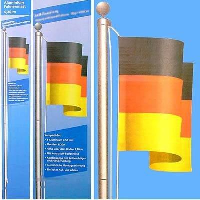 Gear Up Fahnenmast aus Aluminium Farbe Deutschland Größe 6.20 Meter