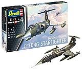 Revell Modellbausatz 03904 Lockheed Martin F-104G Starfighter, Flugzeug im Maßstab 1:72, Level 4, originalgetreue Nachbildung mit vielen Details