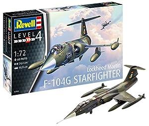 Revell Revell-F-104G Starfighter Maqueta de F-104G Star Fighter, Kit Modelo, Escala 1: 72 (03904), 24,4 cm de Largo