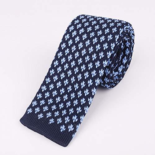 LXTMWSJ Krawatte 5,5 cm Mode koreanische Herren Strick Krawatten schmale Version flachen Kopf Funktionen Gitter Krawatte Hochzeit Geburtstagsgeschenk Zubehör