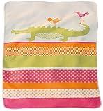 David Fussenegger Babydecke Juwel Krokodil und Vögel koralle pink orange, 70 x 90 cm