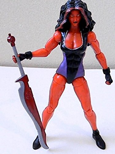 "Marvel Legends RED SHE-HULK 6"" inch Review (Hasbro action figure toy) [OV]"