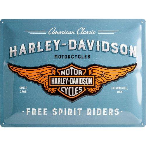 Nostalgic-Art 23244 Harley-Davidson - Logo Blue, Blechschild 30x40 cm