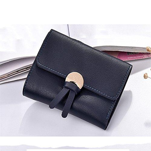 La piegatura pura pelle corto il settanta percento di sconto slim in pelle borsa a mano cambia una borsa della donna,Wathet Blu navy