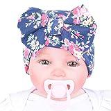 TEBAISE Neugeborenes Baby Mütze Kleinkind Warm Weich Unisex Baby Jungen Mädchen Kopfdeckung Süße Schleife Jersey Slouch Hut Stirnband