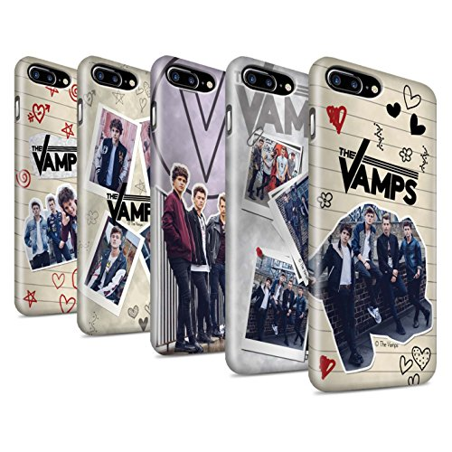 Offiziell The Vamps Hülle / Glanz Snap-On Case für Apple iPhone 7 Plus / Ausgeschnitten Muster / The Vamps Doodle Buch Kollektion Pack 5Pcs