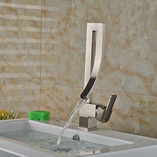ROZIN Creative Style Bathroom Basin Faucet Nickel Brushed Sink Mixer Faucet Tap Single Handle
