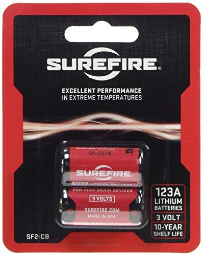 Cr123a 123 (Surefire Batterien Lithium 123A 3V 2-er Packung Rot, 3.3x1.5x1.5 cm)