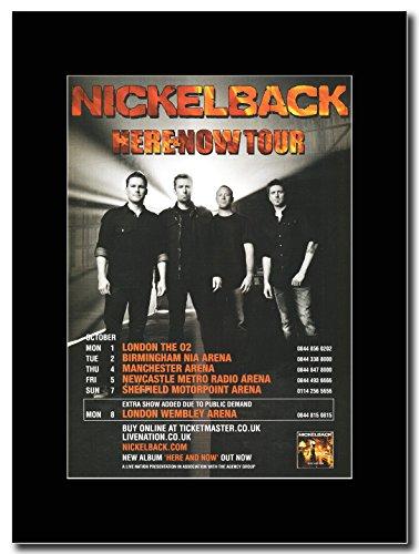 Nickelback-Here Now & UK-Tour date 2012 Magazine Promo su un supporto, colore: nero