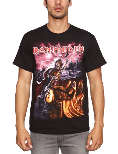 Loud Distribution Herren T-Shirt IRON MAIDEN - TRANSYLVANIA EVENT Schwarz - Schwarz