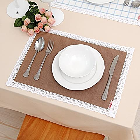 yifom creative Tovaglietta pizzo tessuto isolamento Mat Coffee-solid
