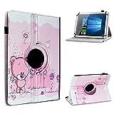UC-Express Archos Access 101 3G Tablet Hülle Tasche Schutzhülle Case Schutz Cover 360° Drehbar 10.1 Zoll Etui, Farbe:Motiv 1