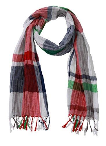 James & Nicholson Unisex Schal Coloured Scarf, Mehrfarbig (Navy/Tomato/Fern-Green), One Si Preisvergleich