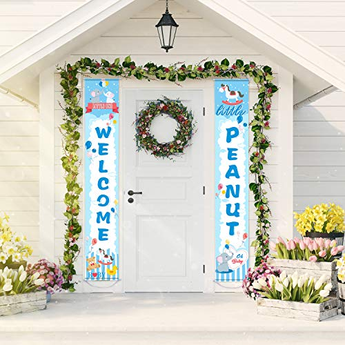 lau Willkommen Baby Banner für Jung oder Mädchen Party Gefallen Baby Dusche Dekorationen ()