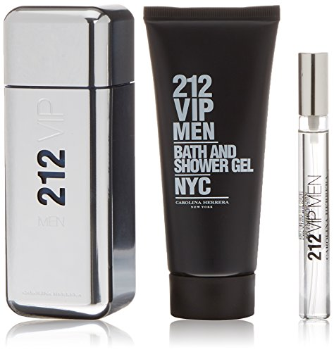 Carolina Herrera 212 Vip Men Agua de Colonia + Gel de Ducha + Perfume Mini - 1 Pack