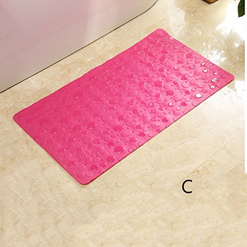 LYJ Tapis de bain Salle de bain Tapis antidérapant Les tapis de porte Toilette étanche Salle de bain Tapis de sol Tapis de solaire avec ventouses Séchage rapide ( Couleur : C )