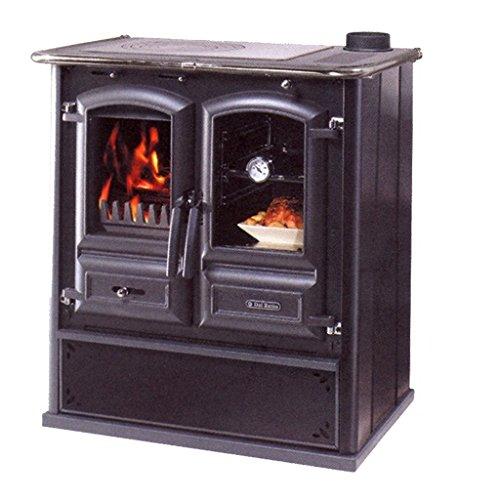 cucine a legna 'regina 631 steel' nero antracite