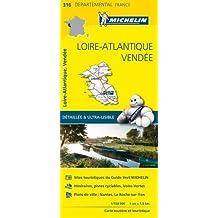 Carte Loire-Atlantique, Vendée Michelin