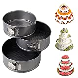 Panzl Set Of 3 Round Aluminium Non-Stick Backing Cake Moulds Pan Can Be Used In Microwave Ovens
